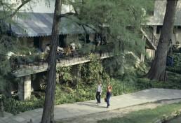 San Antonio Riverwalk in San Antonio, Texas by architect O'Neil Ford