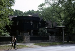 Wright House and Studio in Oak Park, Illinois by architect Frank Lloyd Wright