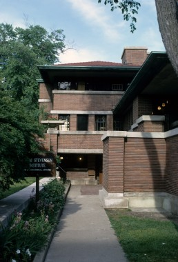 Robie House in Chicago, Illinois by architect Frank Lloyd Wright