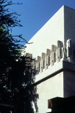 Hollyhock House in Los Angeles, California by architect Frank Lloyd Wright