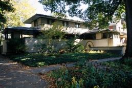 Frank. W. Thomas House in Oak Park, Illinois by architect Frank Lloyd Wright