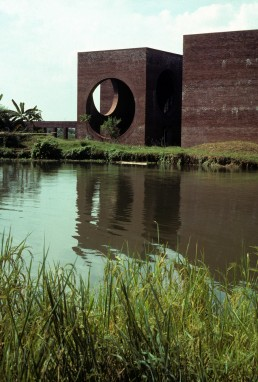 National Assembly of Bangladesh Hostel in Dhaka, Bangladesh by architect Louis Kahn