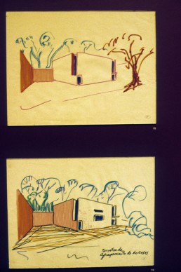 Luis Barragán Retrospective at Rufino Tamayo Museum: Sketches and Photographs in Mexico City, Mexico by architect Luis Barragan