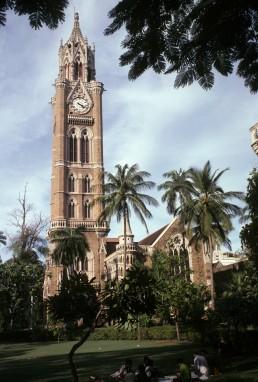 University of Mumbai, Rajabai Clock Tower in Mumbai, India by architect George Gilbert Scott