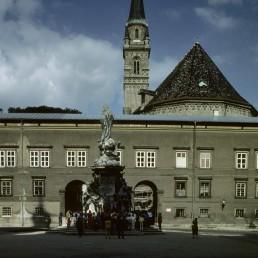 Mozartplatz in Salzburg, Austria