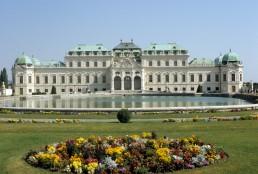 Upper Belvedere in Vienna, Austria by architects Carlo Carlone, Johann Lukas von Hildebrandt, Francesco Solimena, Gaetano Fanti