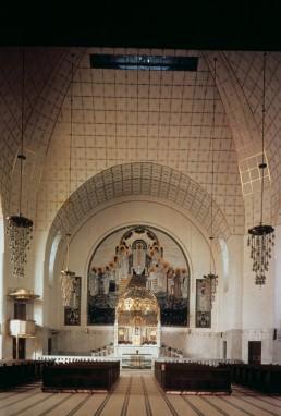 Church of St. Leopold in Vienna, Austria by architects Otto Wagner, Koloman Moser, Othmar Schimkowitz, Richard Luksch