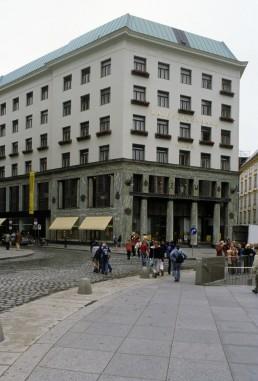 Michaelerplatz in Vienna, Austria by architect Adolf Loos