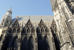 Saint Stephen's Cathedral in Vienna, Austria by architects Lorenz Spenning, Anton Pilgram