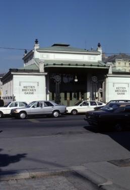 Kettenbrückengasse Station in Vienna, Austria by architect Otto Wagner