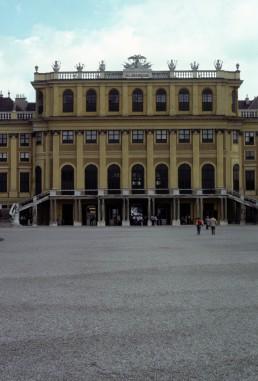 Schönbrunn Palace in Vienna, Austria by architect Johann Bernhard Fischer von Erlach