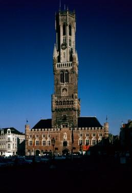 Belfry of Bruges Plaza in Bruges, Belgium
