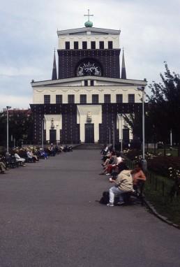 Church of the Sacred Heart of Jesus in Prague, Czechia by architect Josef Plecnik