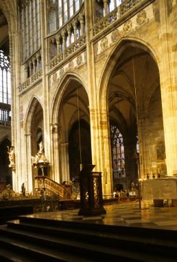 Saint Vitus Cathedral in Prague, Czechia by architects Matthias of Arras, Peter Parler, Wenzel Parler, Johannes Parler, Josef Kranner, Josef Mocker, Nikolaus Pacassi, Kamil Hilbert, Vojtech Sucharda
