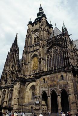Saint Vitus Cathedral by architects Matthias of Arras, Peter Parler, Wenzel Parler, Johannes Parler, Josef Kranner, Josef Mocker, Nikolaus Pacassi, Kamil Hilbert