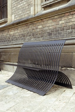 bench in Prague, Czechia