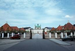 Fredensborg Palace in Fredensborg, Denmark by architects Johan Cornelius Krieger, Nicolai Eigtved, Johan Conrad Ernst, Lauritz de Thurah, C.E. Brenno, Hendrick Krock
