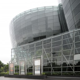 Oriental Arts Center in Shanghai, China by architect Paul Andreu