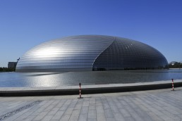 National Grand Theater of China in Beijing, China by architect Paul Andreu