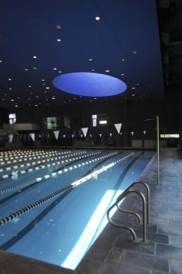 Cranbrook Schools, Williams Natatorium in Bloomfield Hills, Michigan by architects Tod Williams, Billie Tsien, Tod Williams Billie Tsien Architects