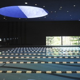 Cranbrook Schools, Williams Natatorium in Bloomfield Hills, Michigan by architects Tod Williams, Billie Tsien, Tod Williams Billie Tsien Architects