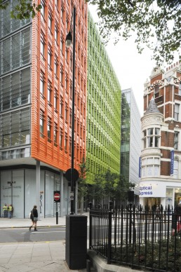 Central St. Giles in London, Britain by architect Renzo Piano