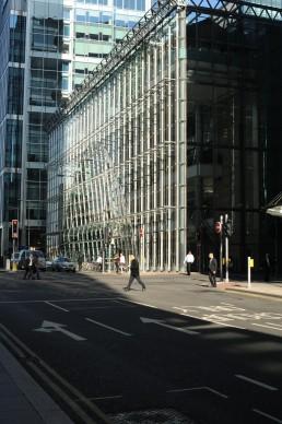 One Canada Square in London, Britain by architect Cesar Pelli