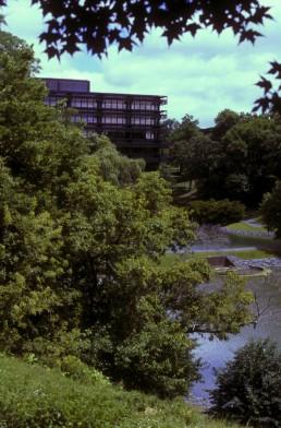 John Deere World Headquarters in Moline, Illinois by architect Eero Saarinen