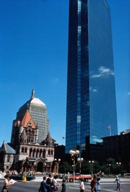 John Hancock Tower in Boston, Massachussetts by architects I.M. Pei, Henry Cobb