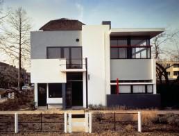 Rietveld Schroder House in Utrecht, Netherlands by architect Gerrit Rietveld