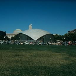 Kresge Auditorium in Cambridge, Massachussetts by architect Eero Saarinen