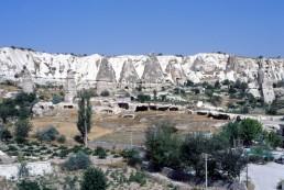 Rock Cut Buildings in Central Turkey, Turkey
