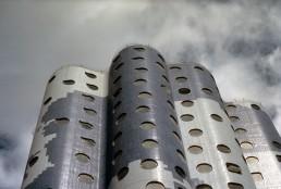 La Defense, Tours Aillaud in Paris, France by architect Emile Aillaud