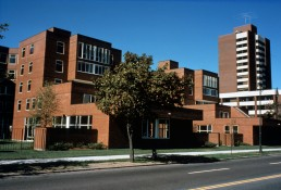 Undergraduate Housing (Next House Dormitory) at MIT in Cambridge, Massachussetts by architect Jose Luis Sert