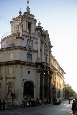 S. Carlo alla Quattro Fontane in Rome, Italy by architect Borromini