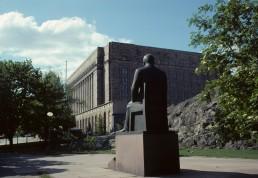 Parliament House in Helsinki, Finland by architect Johan Sigfrid Sirén