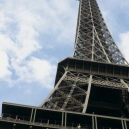 Eiffel Tower in Paris, France by architects Eiffel & Cie, Maurice Koechlin, Émile Nougier