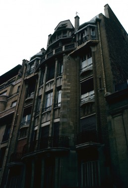 Rue Henri Heine apartment building in Paris, France by architect Hector Guimard