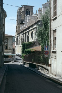 Vézelay street view in Vézelay, France