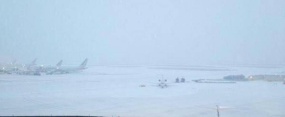 DFW Airport snow storm
