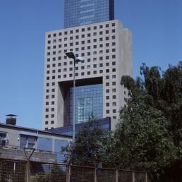 Messe Torhaus in Frankfurt, Germany by architect Oswald Mathias Ungers