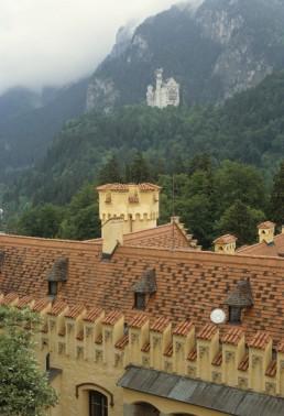 Hohenschwangau Castle in Schwangau, Germany by architect Domenico Quaglio