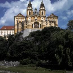 Melk Abbey in Melk, Austria by architect Jakob Prandtauer