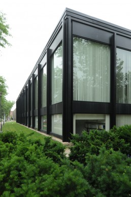 S. R. Crown Hall in Chicago, Illinois by architect Mies van der Rohe