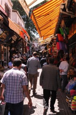 Istanbul street scene in Istanbul, Turkey