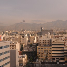 Tehran skyline in Tehran, Iran