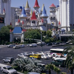 Excalibur Hotel Casino Las Vegas in Las Vegas, Navada by architect Veldon Simpson