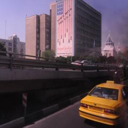 Down With the USA Billboard in Tehran, Iran