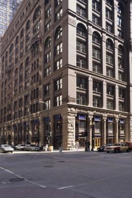 Rookery Building in Chicago, Illinois by architects Frank Lloyd Wright, John Welborn Root, Daniel Burnham