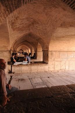 Khaju Bridge in Isfahan, Iran
